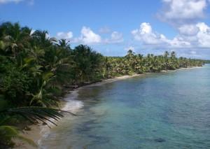 Einsamer Strand auf Little Corn Island, Nicaragua