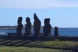 Moais Steinstatuen auf den Osterinseln